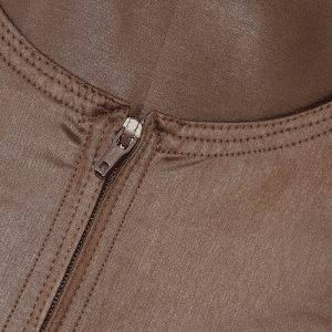 Brown Omani Thawb Jubba - Chest Zip
