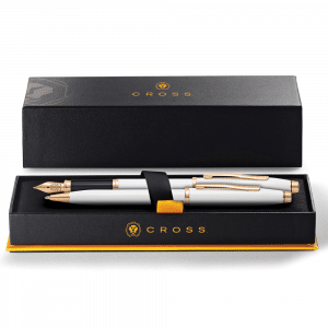 Cross Century II Pearlescent White Fountain Pen and Ball Pen Set